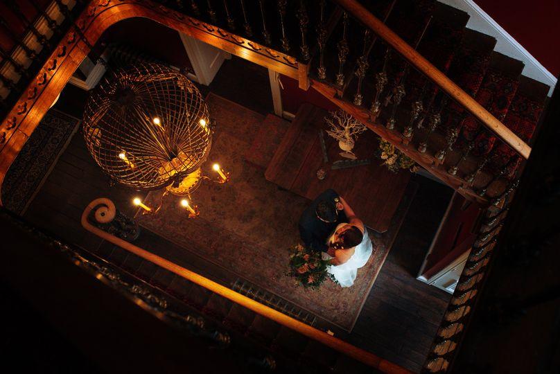 The bride, seen from above - Zara Davis Photography