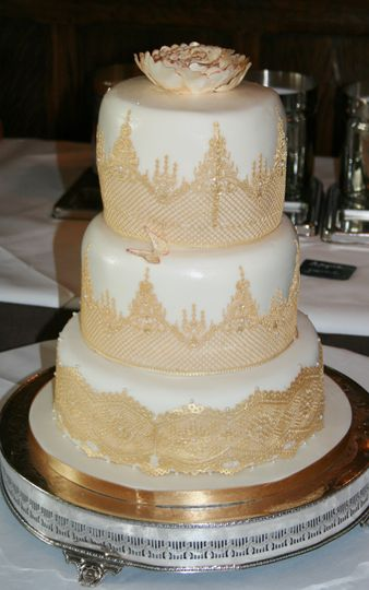Gold edible lace