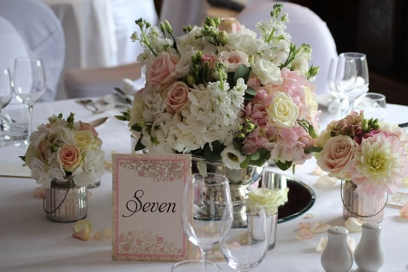 Vintage blush and ivory rose bowl