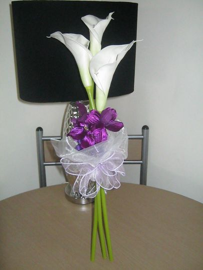 Cala lillies hand spray bouquet