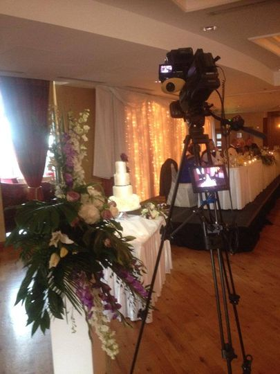 Camera set up for cake cutting