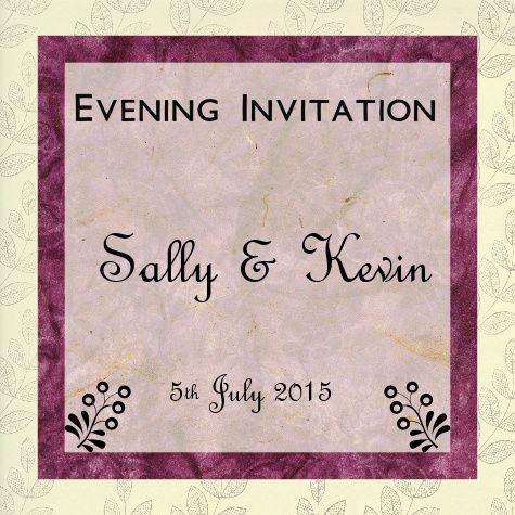Evening invite black & pink