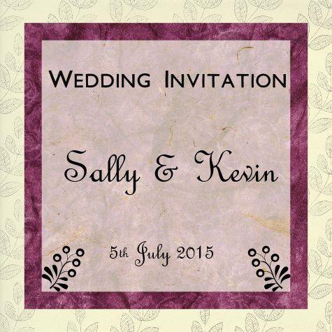 Wedding invite black & pink