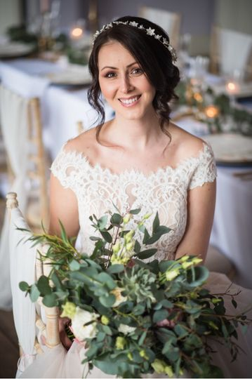 Anastasia bridal flower crown