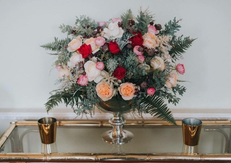 House of Blooms - Welcome table