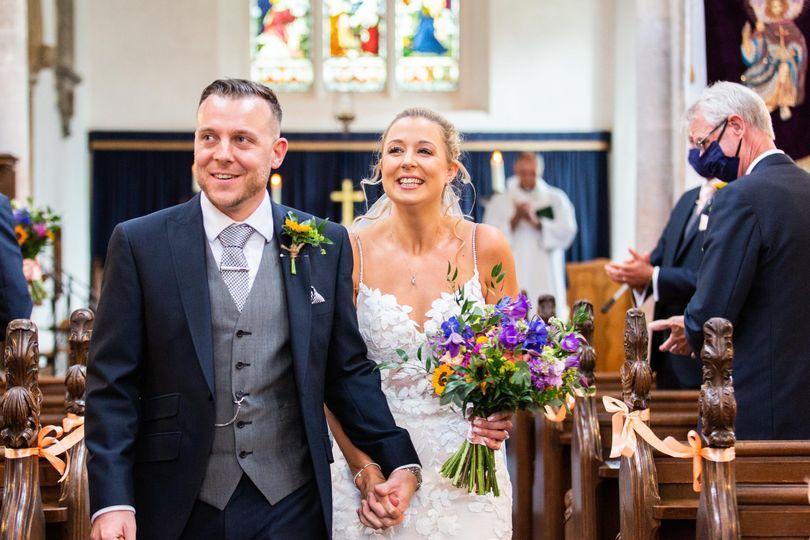 Vibrant wedding bouquet
