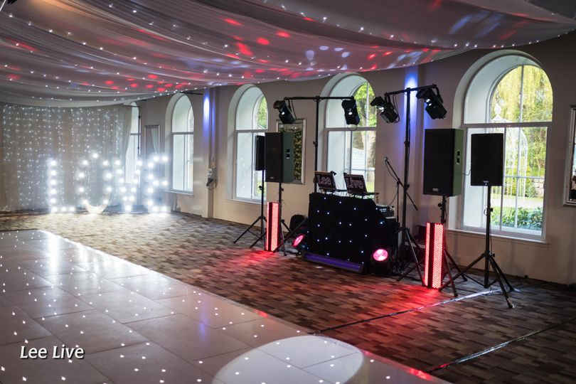 Booth and dance floor