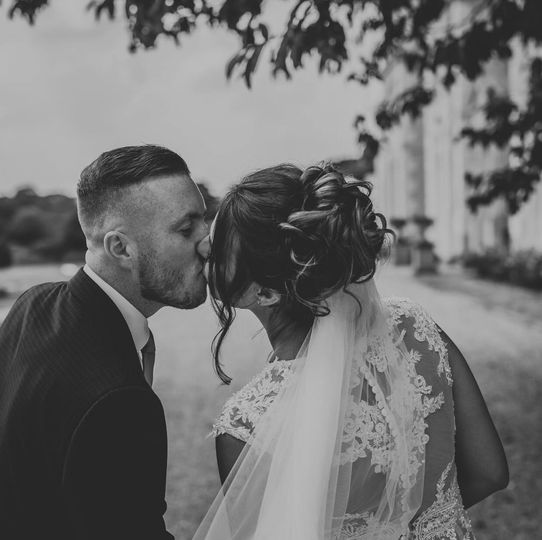 Updo with veil