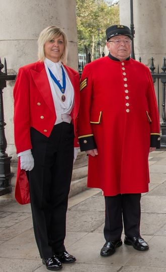 With a Chelsea pensioner
