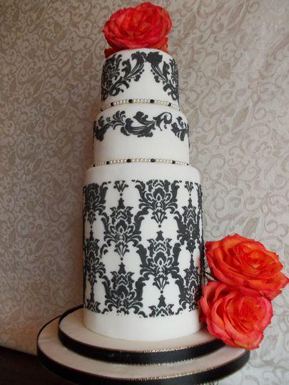 Classic black and white cake