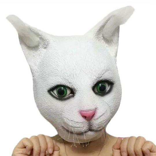 Creepy cat mask
