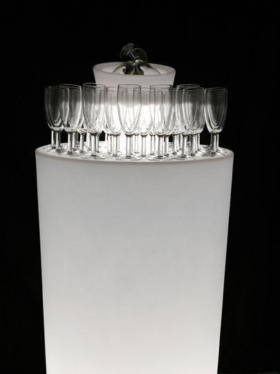 LED champagne reception