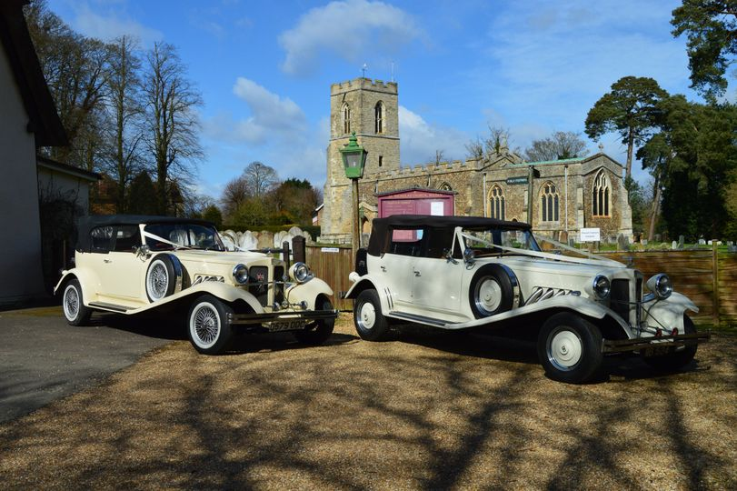 Wedding cars for bride and groom