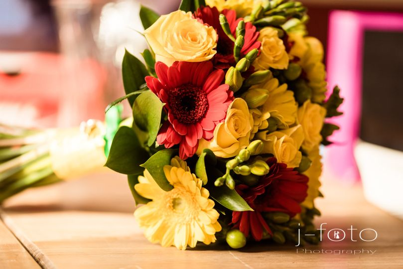Red and yellow bouquet