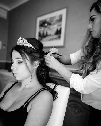 Wedding hairstyling