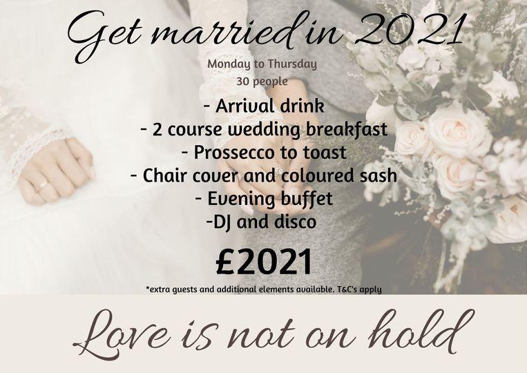 2021 Wedding offer