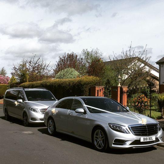 Chauffeur driven Wedding Cars.