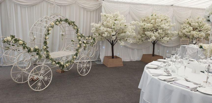 White blossom, carriage