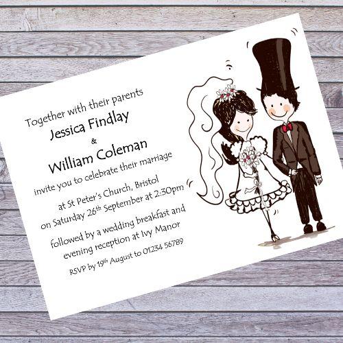 BRIDE & GROOM WEDDING INVITES