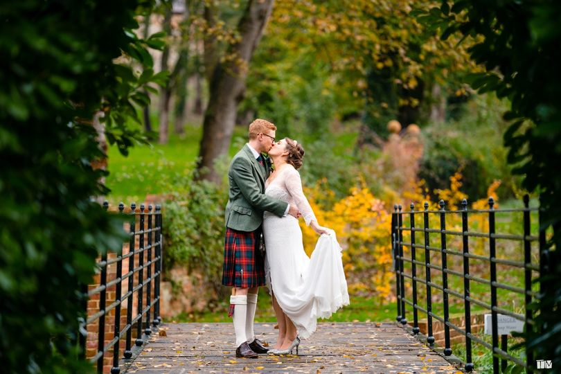Real Bride Maddie wearing a Lisa Lyons Bespoke wedding dress