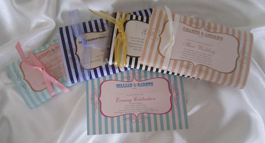 Chocolate bar invitations