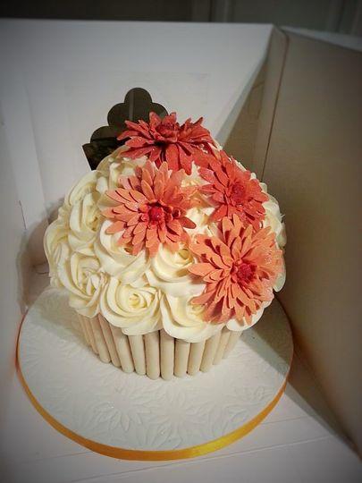 Classic giant cupcake flowers