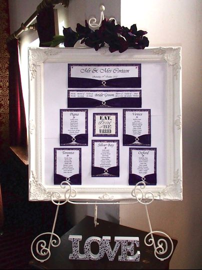 Table plan & easel hire