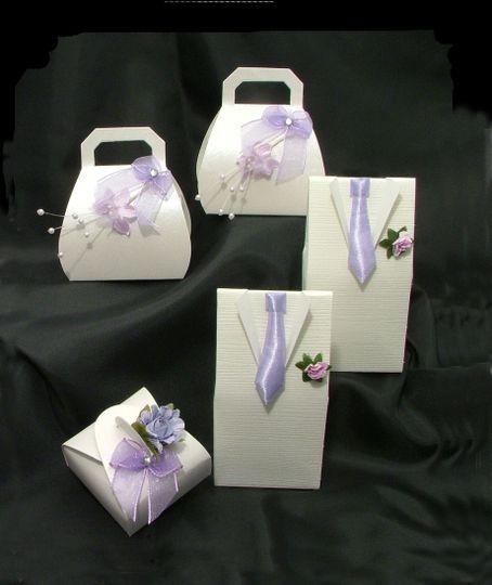 Lilac Favour Boxes
