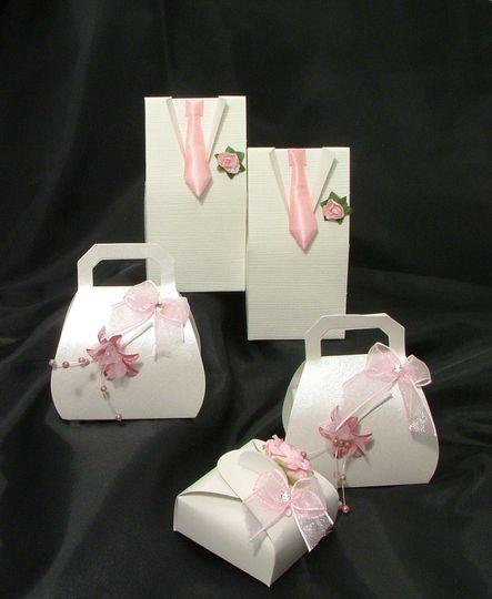 Pink Favour Boxes