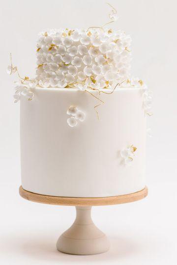 White & Gold Blossom