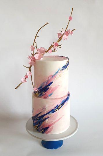 Pink & Cobalt Blossom