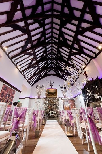 Civil Ceremony set up in Great Hall
