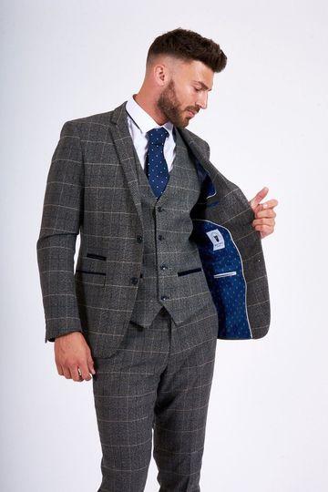 Scott Grey Tweed Suit