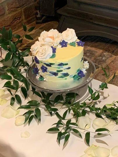 Painted wedding cak