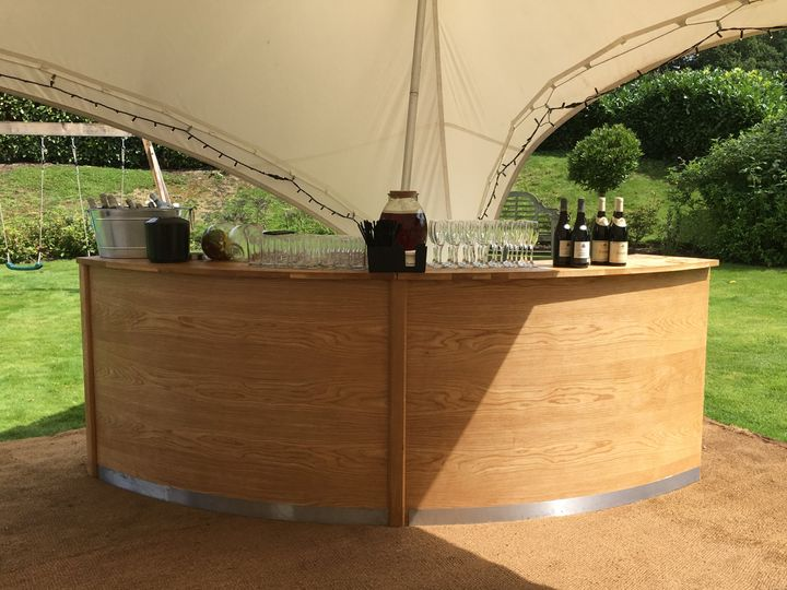 45 Degree Curved Wooden Bar