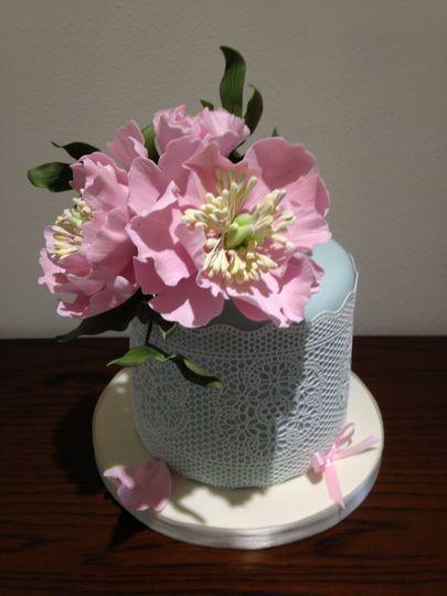peony vintage style cake 4 111090