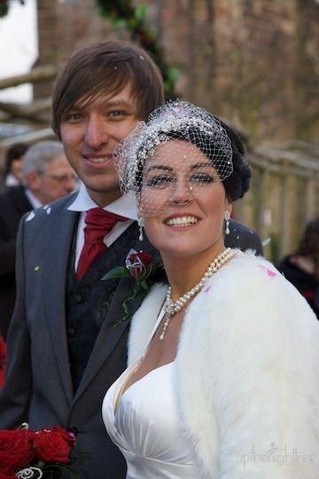 Bespoke garbo cap with peep veil