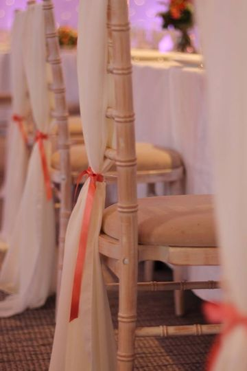Limewash Chair with Ivory Chiffon