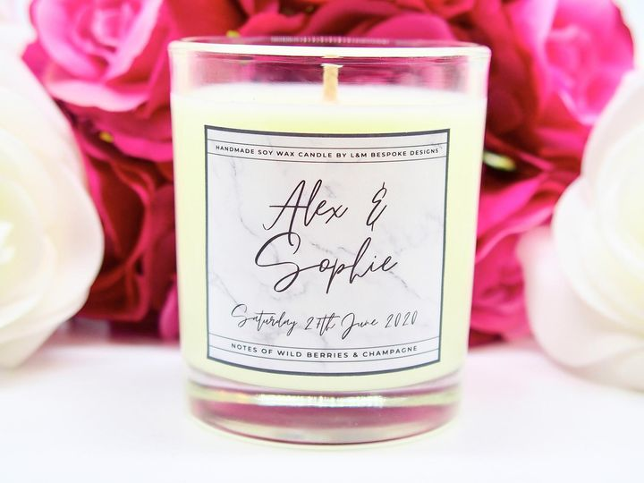 Marble design votive candles