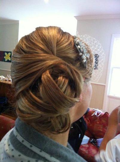 Sleek weaved bun