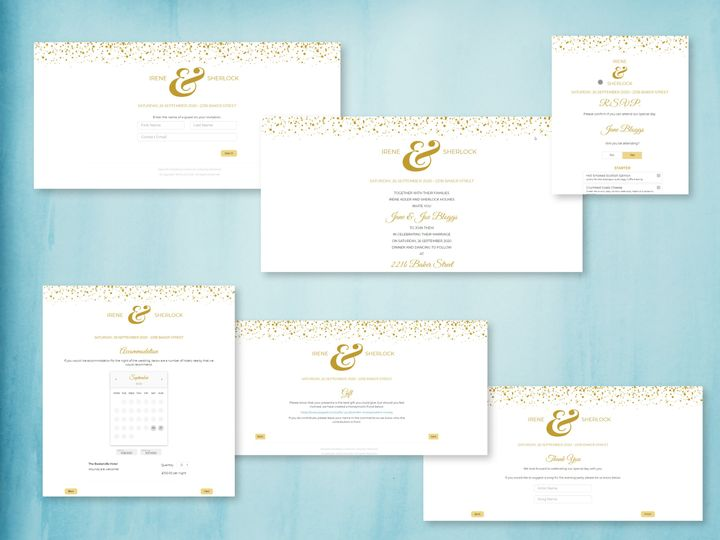 Steps of the Gold Confetti theme