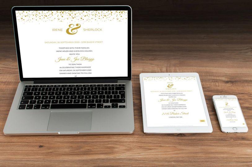 Gold Confetti Theme Devices