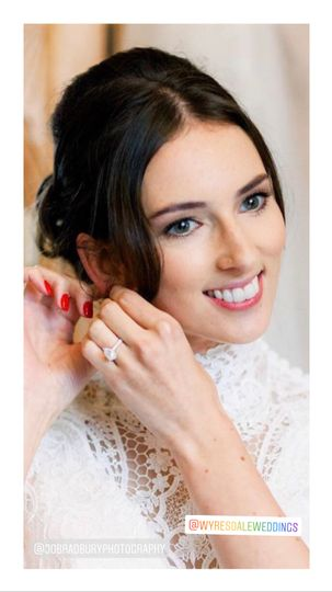 Bride at wyresdale