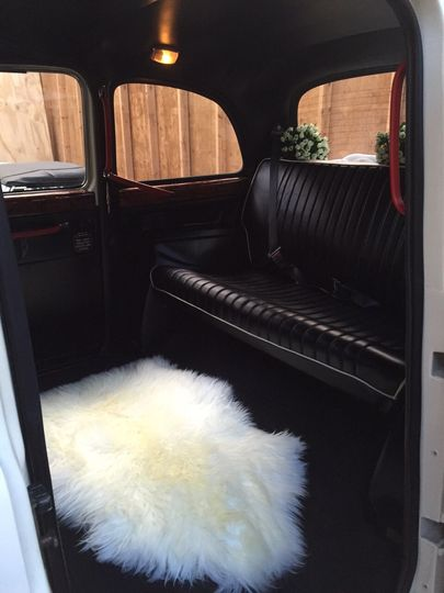 Inside of taxi