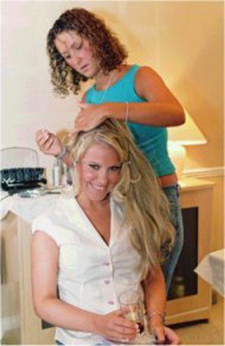 Trial bridal hair