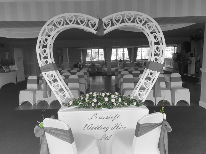 Decorative Hire Lowestoft wedding hire 3