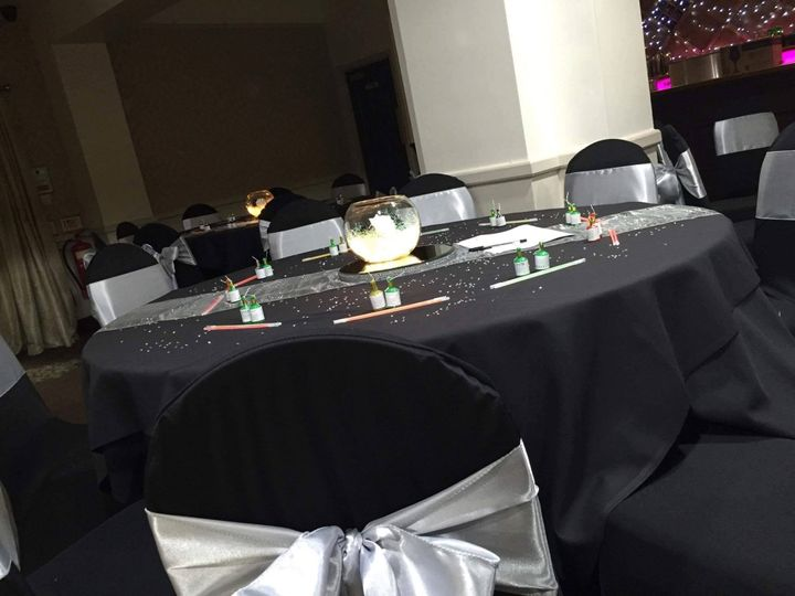 Chair covers and table decor