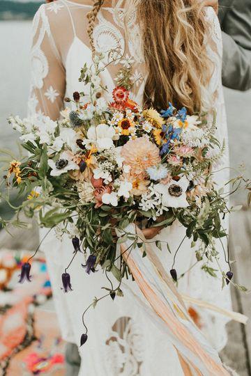 Wild natural wedding bouquet