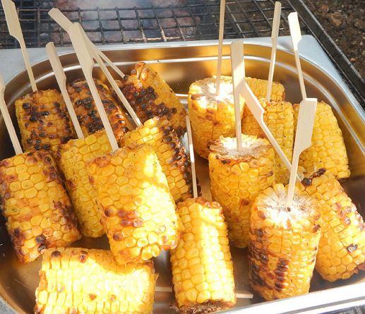 Barbecued Sweetcorn