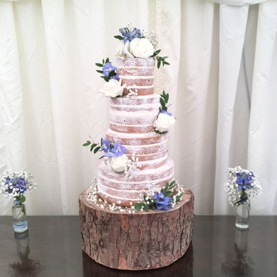 4 tier naked cake